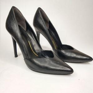 Enzo Angiolini 6 M Black Closed Pointed Toe Heels